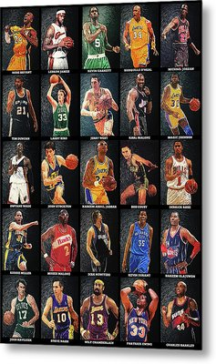 Nba Legends Metal Print