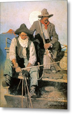N.c. Wyeth: The Pay Stage Metal Print by Granger