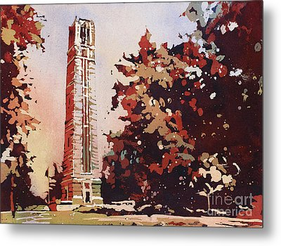 Metal Print featuring the painting Ncsu Bell-tower II by Ryan Fox