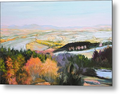 Metal Print featuring the painting Near Clawddnewydd In North Wales. by Harry Robertson