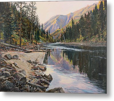 Metal Print featuring the painting Near Smith Gulch by Steve Spencer