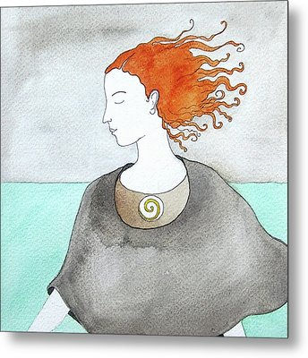 Near The Sea Metal Print by Clary Sage Moon