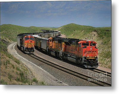 Nebraska Coal Trains Metal Print by Garry McMichael