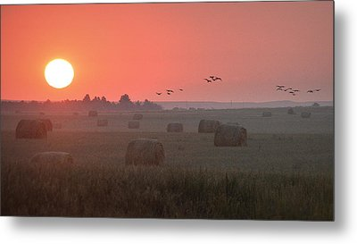 Metal Print featuring the photograph Nebraska Mornings.. by Al Swasey
