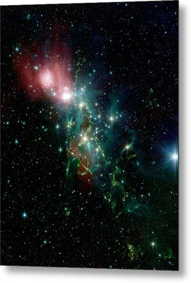 Nebula Ngc 1333 In The Constellation Perseus Metal Print by American School