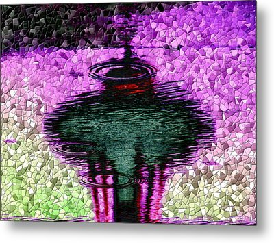 Needle In A Raindrop Stack 3 Metal Print by Tim Allen