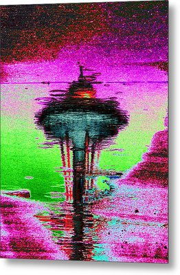 Needle In A Raindrop Stack Metal Print by Tim Allen