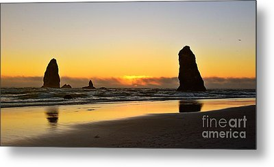 Needles Sunset Metal Print by Scott Cameron