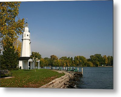 Metal Print featuring the photograph Neenah Light House by Jack G  Brauer