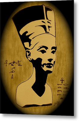 Nefertiti Egyptian Queen Metal Print by Georgeta  Blanaru