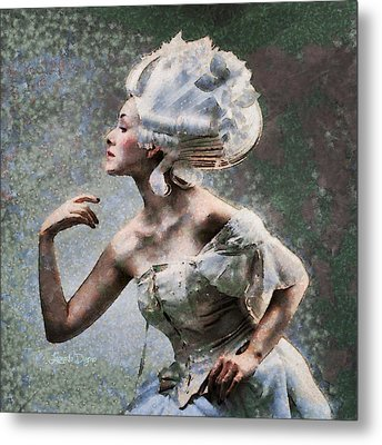 Nefertiti Style Hair Metal Print by Leonardo Digenio