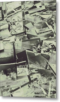 Negative Film Photo Background Metal Print