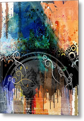 Negative Thoughts Invasion Metal Print by Bedros Awak