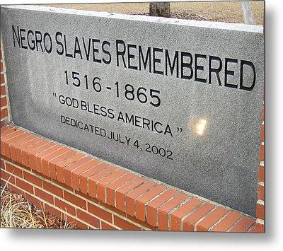 Negro Slaves Remembered Metal Print by Warren Thompson