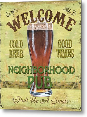 Neighborhood Pub Metal Print by Debbie DeWitt
