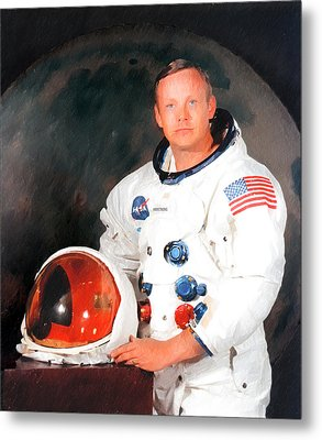 Neil Armstrong Metal Print by Ericamaxine Price