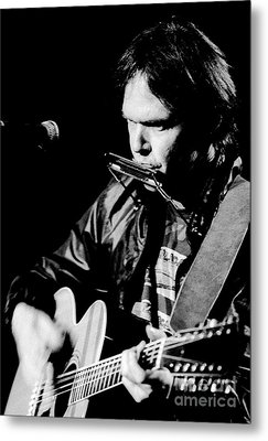 Neil Young 1986 #2 Metal Print by Chris Walter