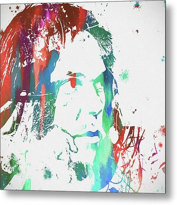 Neil Young Paint Splatter Metal Print by Dan Sproul