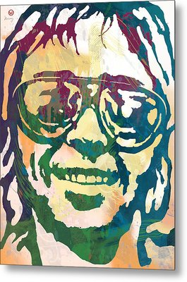 Neil Young Pop Stylised Art Poster Metal Print