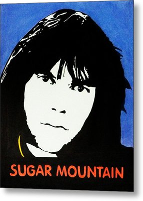 Neil Young Sugar Mountain Metal Print by Kenneth Regan