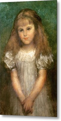 Nellie Ionides Metal Print by George Frederick Watts
