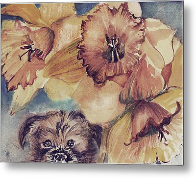 Metal Print featuring the painting Nellie Mae by Mindy Newman