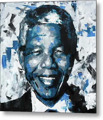 Metal Print featuring the painting Nelson Mandela II by Richard Day