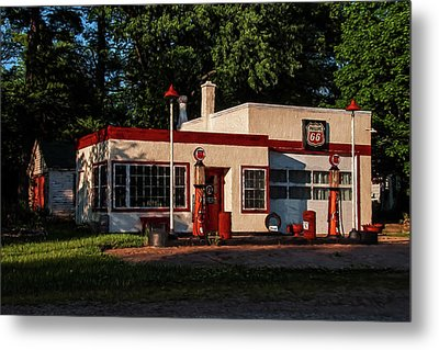 Nelsonville Phillips 66 Metal Print by Trey Foerster