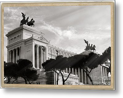 Neoclassical Architecture In Rome Metal Print by Stefano Senise