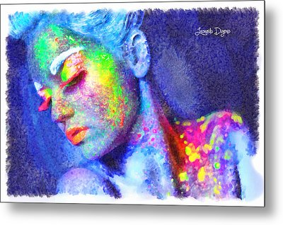 Neon Beauty - Da Metal Print by Leonardo Digenio