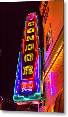 Neon Condor San Francisco Metal Print by Garry Gay