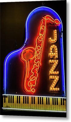 Neon Jazz Metal Print