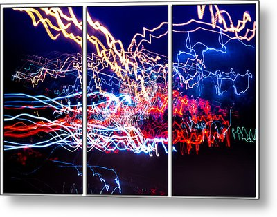 Neon Ufa Triptych Number 1 Metal Print by John Williams