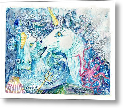 Neptune's Horses Metal Print by Melinda Dare Benfield