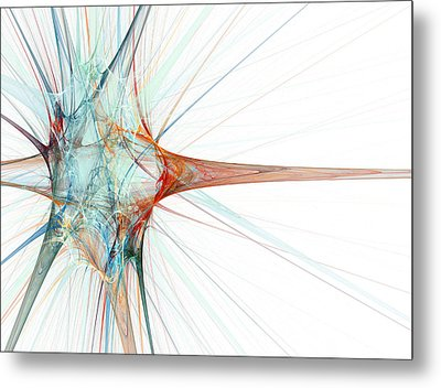 Nerve Cell, Abstract Artwork Metal Print by Laguna Design