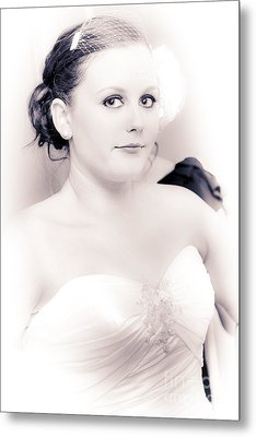 Nervous And Apprehensive Bride Getting Ready Metal Print by Jorgo Photography - Wall Art Gallery