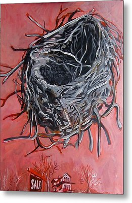 Nest Above House Metal Print by Tilly Strauss