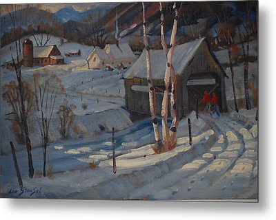 Nestled In The Berkshires Metal Print by Len Stomski