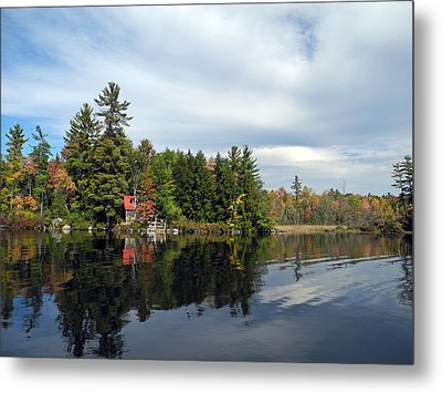 Nestled On The Far Shore Metal Print by Lynda Lehmann