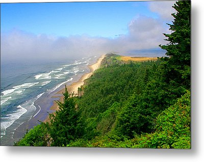 Netarts Bay Spit From Anderson Viewpoint Metal Print by Margaret Hood