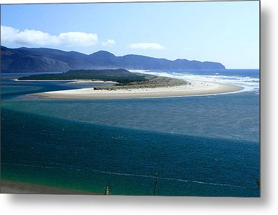 Netarts Bay Spit With Cape Lookout In Background Metal Print