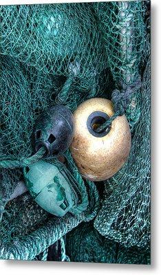 Nets And Buoys Metal Print by Lynn Jordan