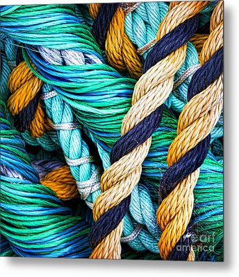 Nets And Knots Number Five Metal Print by Elena Nosyreva