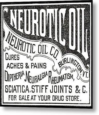 Neurotic Vintage Ad Metal Print by Marianne Dow