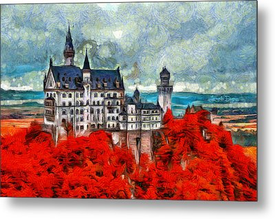 Neuschwanstein Castle - Da Metal Print by Leonardo Digenio