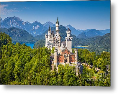 Neuschwanstein Fairytale Castle Metal Print by JR Photography