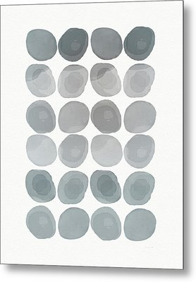 Neutral Stones- Art By Linda Woods Metal Print by Linda Woods
