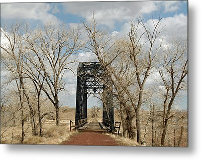 Nevada Railroad Bridge Metal Print
