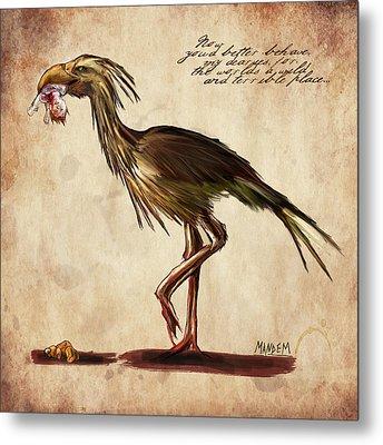 Never Bird Metal Print by Mandem