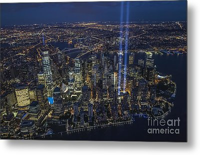 Never Forget-an Aerial Tribute Metal Print by Roman Kurywczak